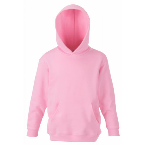 Fruit of the loom Kids Classic Hooded Sweat Light Pink