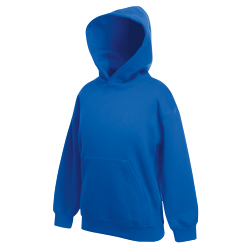 Fruit of the loom Kids Classic Hooded Sweat Royal Blue