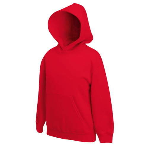 Fruit of the loom Kids Classic Hooded Sweat Red