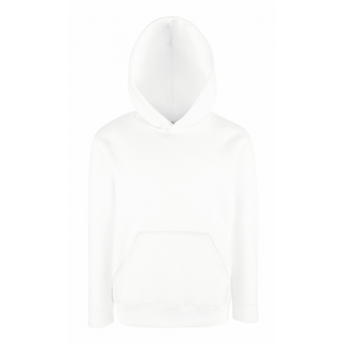 Fruit of the loom Kids Classic Hooded Sweat White