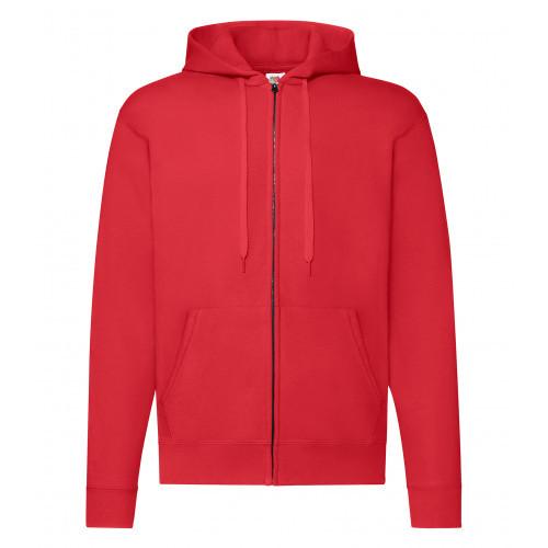 Fruit of the loom Zip Hooded Sweat Jacket Red
