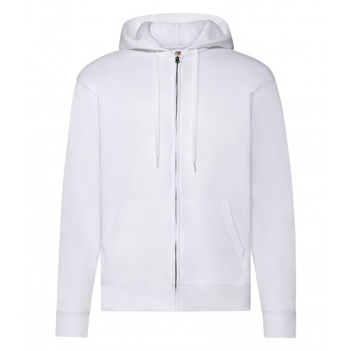 Fruit of the loom Zip Hooded Sweat Jacket White