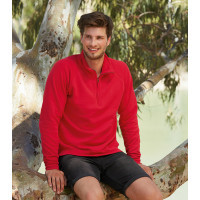 Fruit of the loom Sweat Zip Neck Red