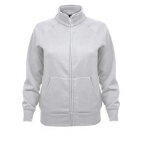 Fruit of the loom Ladies Sweat Jacket White