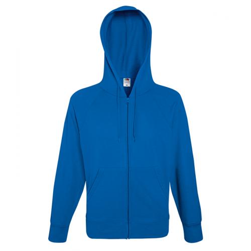 Fruit of the loom Lightweight Hooded Sweat Jacket Royal Blue