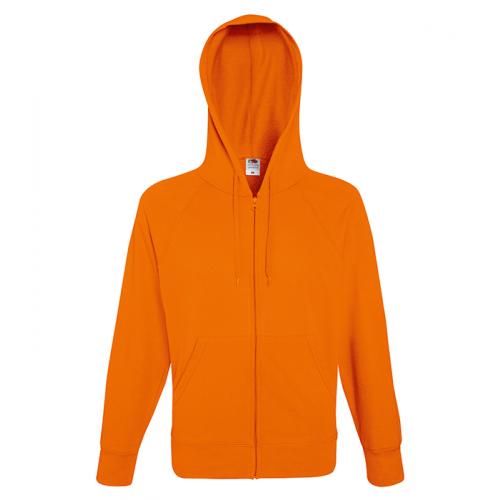 Fruit of the loom Lightweight Hooded Sweat Jacket Orange