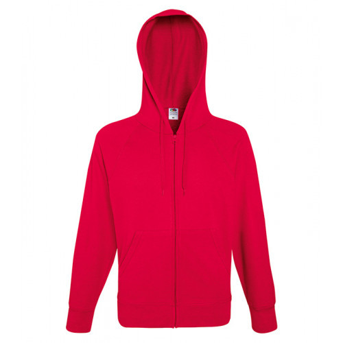 Fruit of the loom Lightweight Hooded Sweat Jacket Red