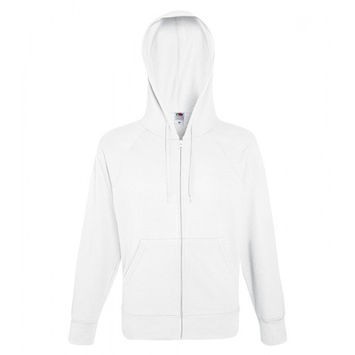 Fruit of the loom Lightweight Hooded Sweat Jacket White