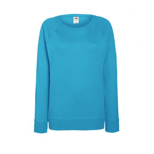 Fruit of the loom Ladies Lightweight Raglan Sweat Azure Blue