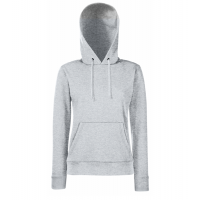 Fruit of the loom Ladies Lightweight Hooded Sweat Heather Grey