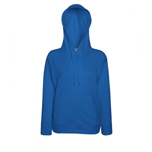 Fruit of the loom Ladies Lightweight Hooded Sweat Royal Blue