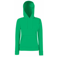 Fruit of the loom Ladies Lightweight Hooded Sweat Kelly Green