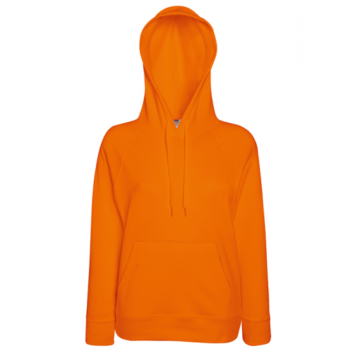 Fruit of the loom Ladies Lightweight Hooded Sweat Orange