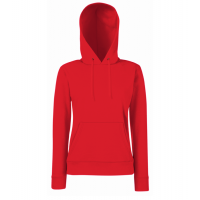 Fruit of the loom Ladies Lightweight Hooded Sweat Red