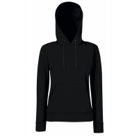 Fruit of the loom Ladies Lightweight Hooded Sweat Black