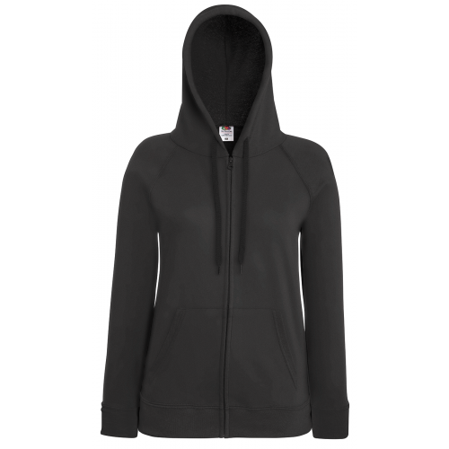Fruit of the loom Ladies Lightweight Hooded Sweat Jacket Light Graphite