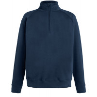 Fruit of the loom Lightweight Zip Neck Sweat Deep Navy