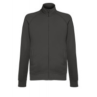 Fruit of the loom Lightweight Sweat Jacket LIGHT GRAPHITE