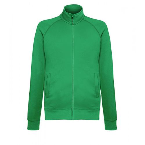 Fruit of the loom Lightweight Sweat Jacket KELLY GREEN