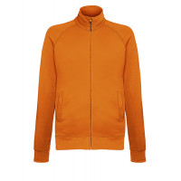 Fruit of the loom Lightweight Sweat Jacket ORANGE