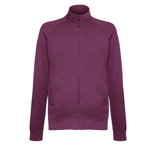 Fruit of the loom Lightweight Sweat Jacket BURGUNDY