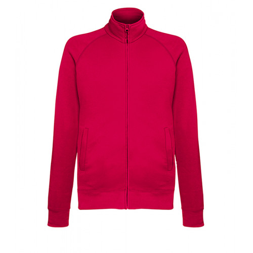 Fruit of the loom Lightweight Sweat Jacket RED