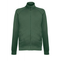Fruit of the loom Lightweight Sweat Jacket BOTTLE GREEN