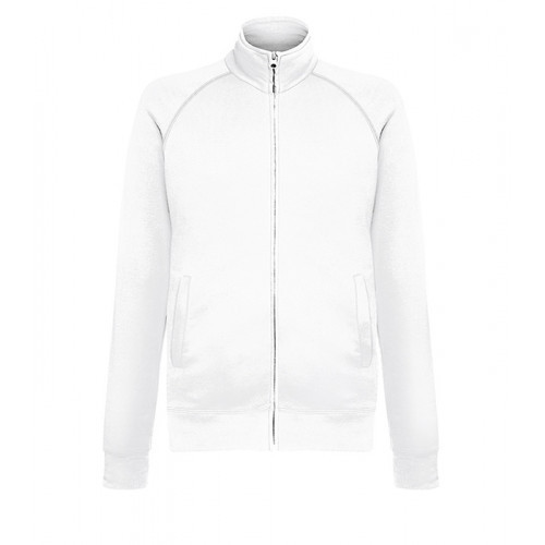 Fruit of the loom Lightweight Sweat Jacket White