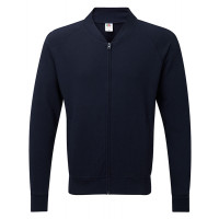 Fruit of the loom Lightweight Baseball Sweat Jacket Deep Navy