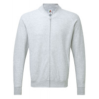 Fruit of the loom Lightweight Baseball Sweat Jacket Heather Grey