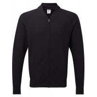 Fruit of the loom Lightweight Baseball Sweat Jacket Black