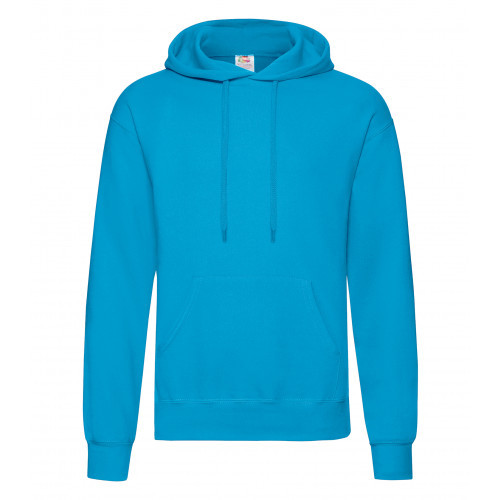 Fruit of the loom Classic Hooded Sweat Azure Blue