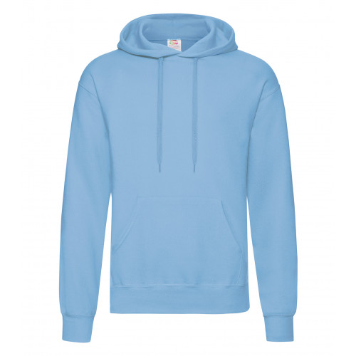 Fruit of the loom Classic Hooded Sweat New Sky Blue