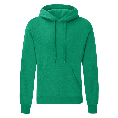 Fruit of the loom Classic Hooded Sweat Heather Green