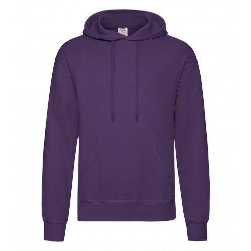 Fruit of the loom Classic Hooded Sweat New Purple