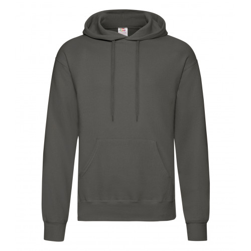 Fruit of the loom Classic Hooded Sweat Light Graphite