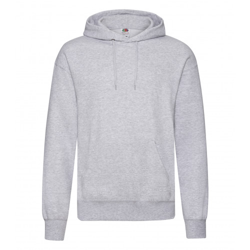 Fruit of the loom Classic Hooded Sweat Heather Grey