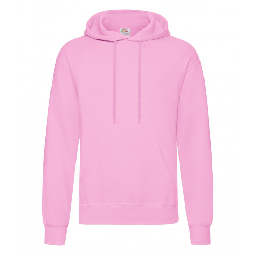Fruit of the loom Classic Hooded Sweat Light Pink