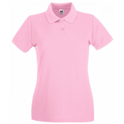 Fruit of the loom Ladies Premium Polo Light Pink