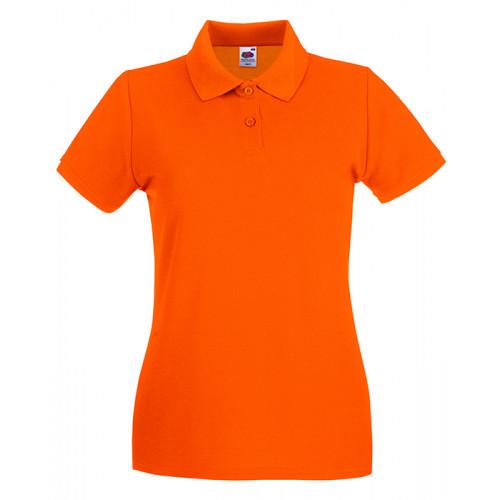 Fruit of the loom Ladies Premium Polo Orange