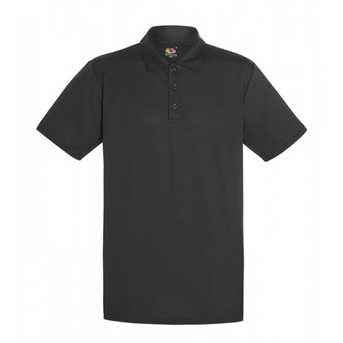 Fruit of the loom Performance Polo Black