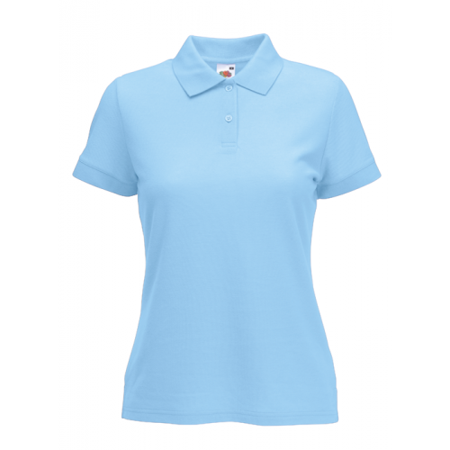 Fruit of the loom Ladies 65/35 Polo Sky Blue