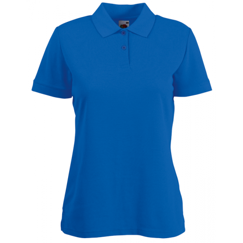 Fruit of the loom Ladies 65/35 Polo Royal Blue