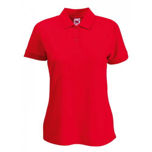 Fruit of the loom Ladies 65/35 Polo Red