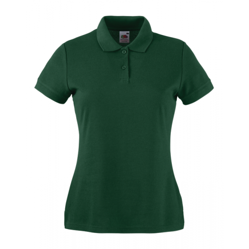 Fruit of the loom Ladies 65/35 Polo Bottle Green