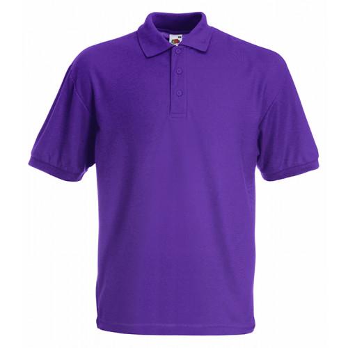 Fruit of the loom Kids 65/35 Polo Purple