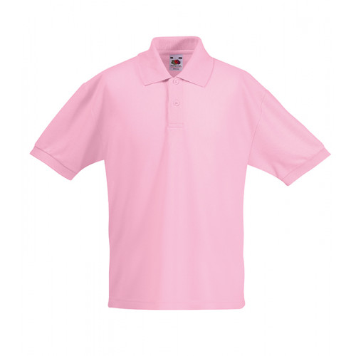 Fruit of the loom Kids 65/35 Polo Light Pink