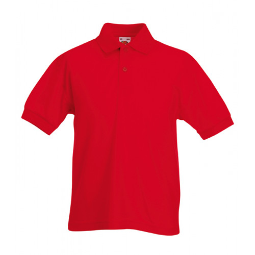 Fruit of the loom Kids 65/35 Polo Red