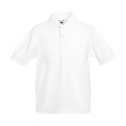 Fruit of the loom Kids 65/35 Polo White