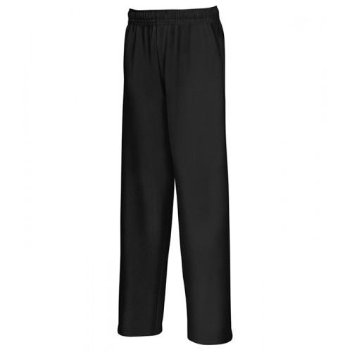 Fruit of the loom Kids Lightweight Open Hem Jog Pants Black